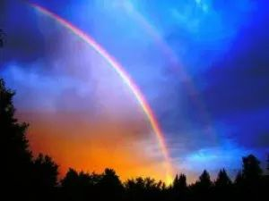 double rainbow meaning is magic, magic, magic...