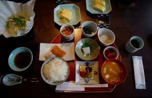 """Japanese style breakfast"" – Japanese foods makes you healthy."