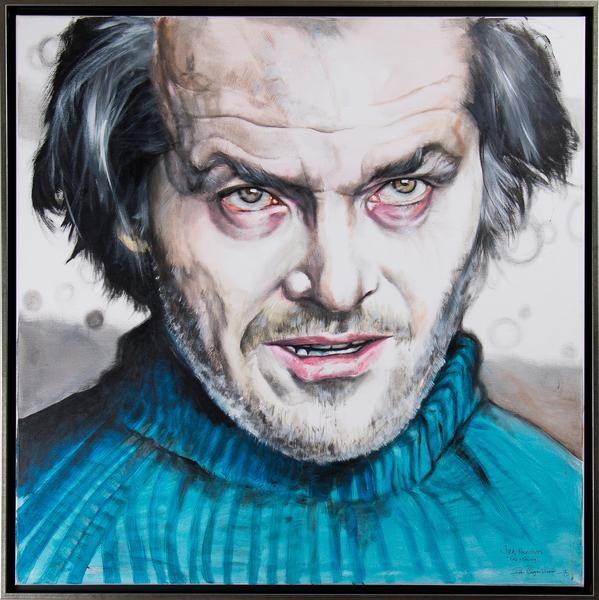 """Peter Eugén - """"Jack Nicholson - The Shining"""" finns att köpa hos oss på Galleri Melefors / is avialable for purchase at Galleri Melefors #petereugén #peter #eugén #eugen #art #painting #acryl #interiordesign #design #decoration #jacknicholson #nicholson #portrait #theshining #movies #horror #hollywood #legend #forsale #konst #målning #akrylmålning #akryl #interiör #inredning #retro #filmer #skräck #skräckfilm #tillsalu #gallerimelefors #melefors"""
