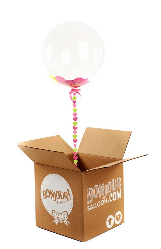 these giant confetti balloons are just too cute! you can add customizable messages and use them for anything from thank you's to asking your leading ladies to be bridesmaids! http://www.bonjourballoon.com/ #confettiballoon #bonjourballons #customballoons
