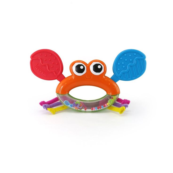 Shake Click, Clack Jack to hear him rattle and watch the colors and patterns move about in the bead window. Features knotty legs to explore and teething claws to soothe when teething. Tomy works closely with parents and child development experts to cre
