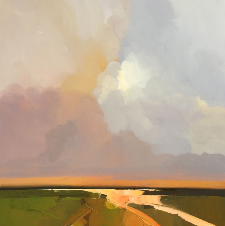 INTO THE BAY     2016     48x48 inches    Acrylic, oil on canvas                  VINEYARD MARSH     2016     48x48 inches ...