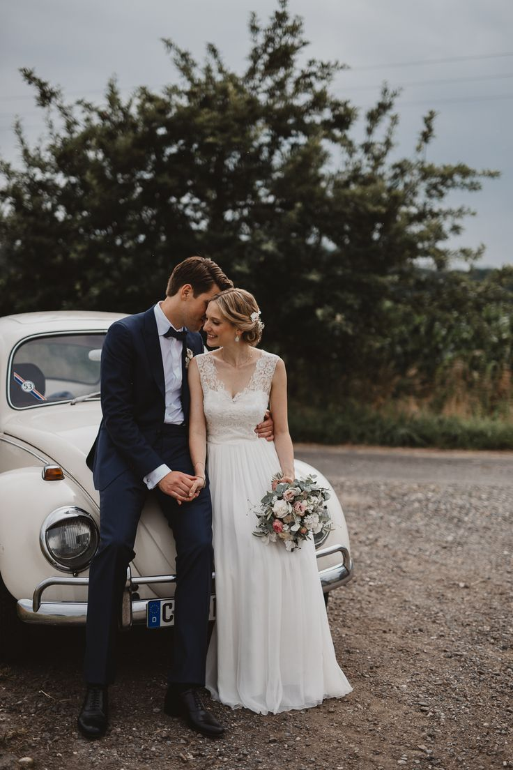 Hochzeitsauto Ente | Brautkleid Kisui | Haus Ruhr| Merve & Nils Photography | …