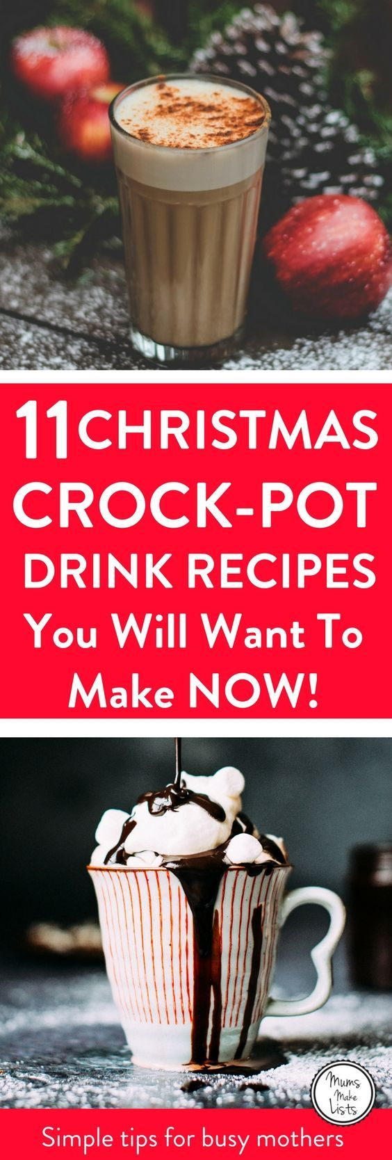 Christmas Crock-Pot slower cooker drinks are an easy way to create an amazing hot alcoholic or warming hot chocolate drink for your guests during the holiday period. You just pop the ingredients in the Crock-pot and leave the pot to do the work, whilst yo