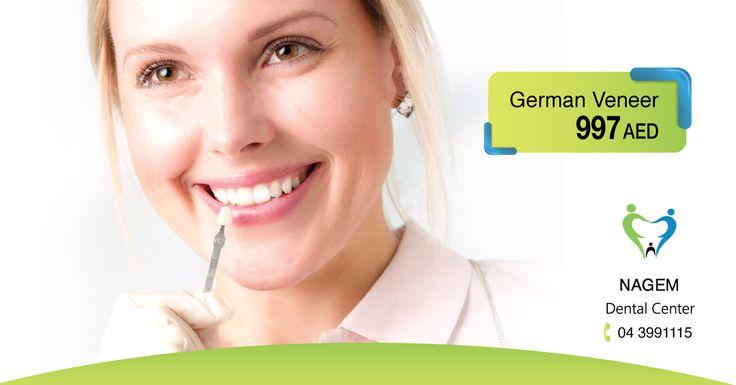Get German Veneer for only 997 AED by experts in Nagem Dental Center. Call Now: 043991115 http://dentalclinic.ae #veneer #german_veneer #hollywood_smile #happy #smile #dubai #albarsha #international_city #happydubai