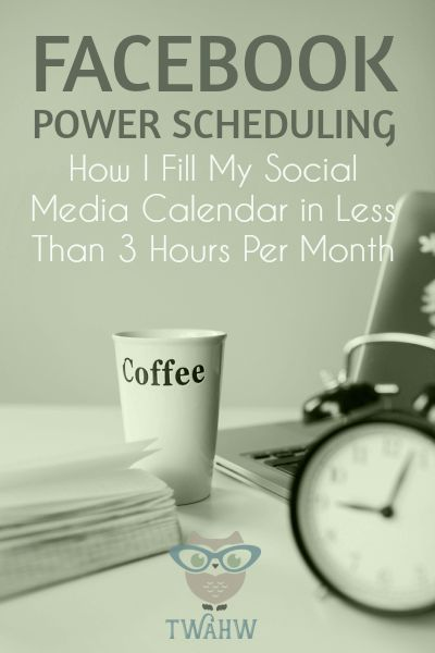 Great tips for scheduling Facebook Page updates in less time. How to find and schedule great content for Facebook, Pinterest, Twitter and more!