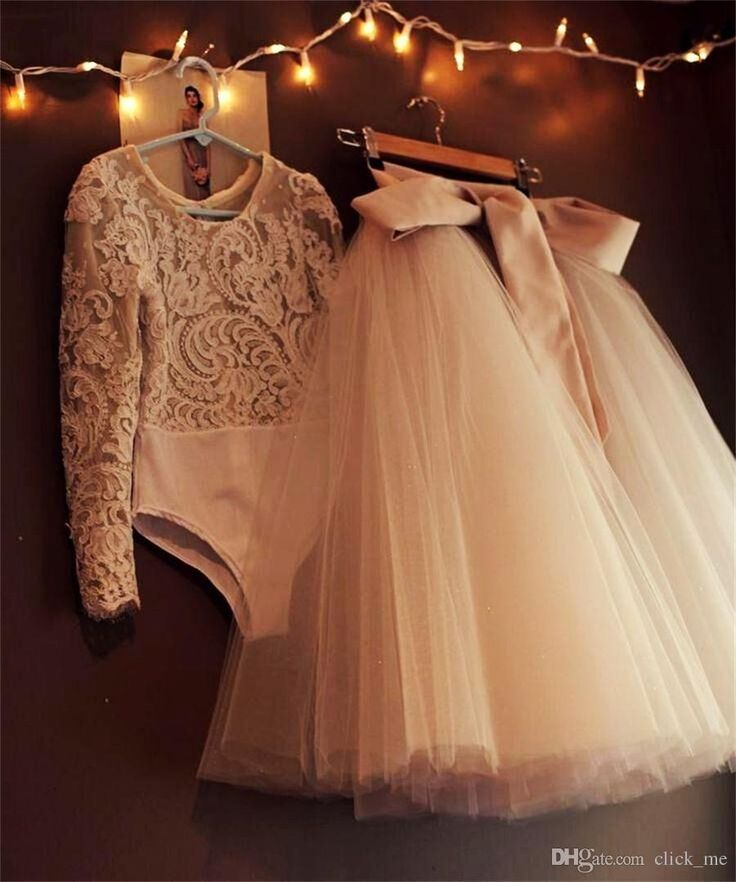 Modest Two Pieces Evening Dresses Long Tutu Tulle Ribbon Lace Long Sleeve Prom Dresses Customized Modest Formal Dresses Party Evening Gowns Long Evening Dresses Uk White Evening Dresses From Click_me, $118.87| Dhgate.Com