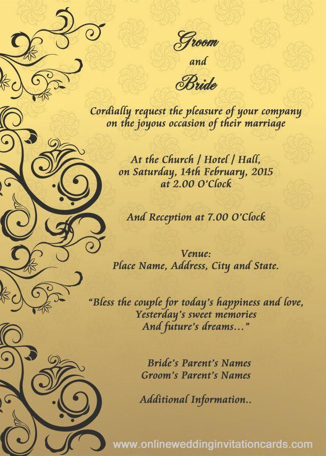 wedding invitation designs templates - Google Search