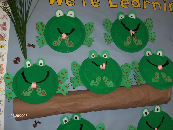 Paper plate frogs frogs pinterest we ponds and paper for Frog crafts for preschoolers