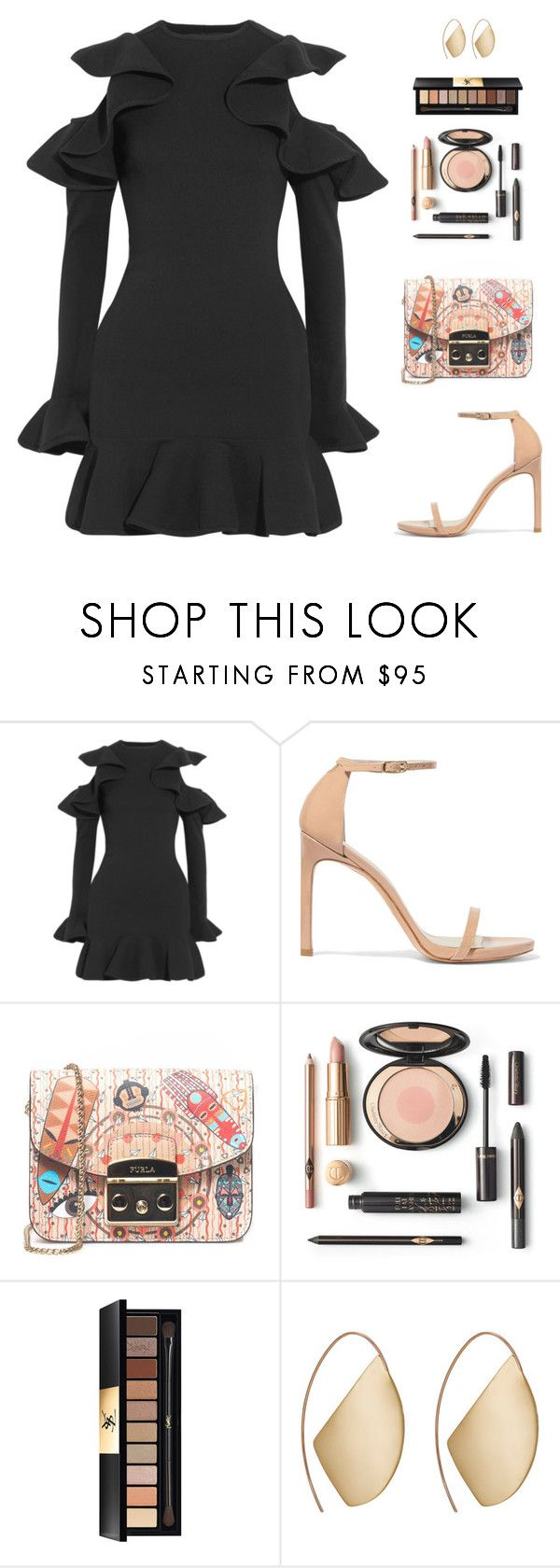 """Untitled #5092"" by mdmsb on Polyvore featuring Michael Lo Sordo, Stuart Weitzman, Furla, Yves Saint Laurent and Ana Khouri"