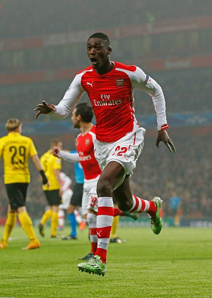 Yaya #Sanogo scores #Arsenal's first against #Dortmund