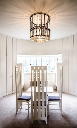 The Oval Room. House for an Art Lover. Charles Mackintosh. Designed in 1901, realized in 1996. Glasgow, Scotland