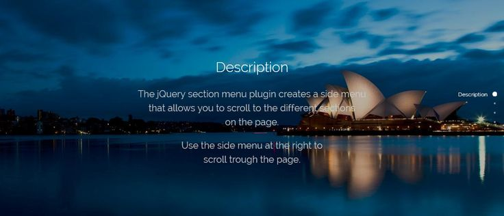 jQuery Section Menu | OrTheme #scroll #menu #SideMenu #jQuery #ScrollTo #ScrollMenu #ScrollNavigation #section
