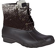 Saltwater Ombre Wool Duck Boot, Brown/White