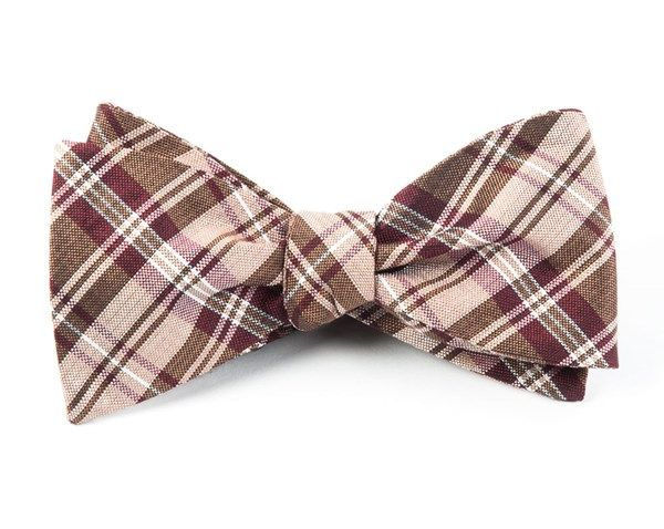 NARRATIVE PLAID BOW TIES - BRONZE | Ties, Bow Ties, and Pocket Squares | The Tie Bar