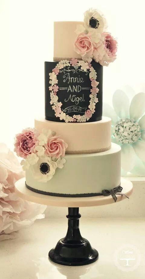 114 best wedding cakes images on Pinterest   Cake wedding ...