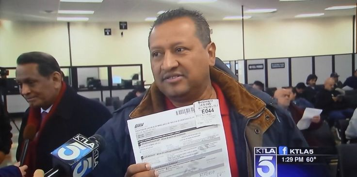 Illegal Immigrants line up at California DMV offices to register to vote