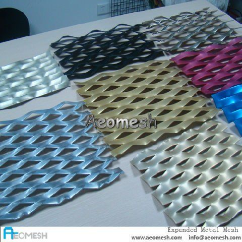 Decorative Mesh Panels / Anodized Aluminum Expanded Mesh/ Perforated Metal Sheet G