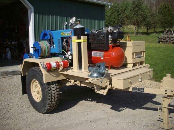 Welding and repair trailer