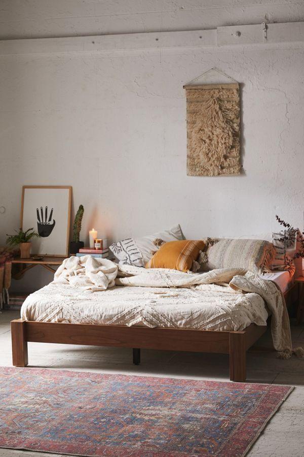 Sadie Platform Bed Eclectic Bedroom, Platform Bed Bedding