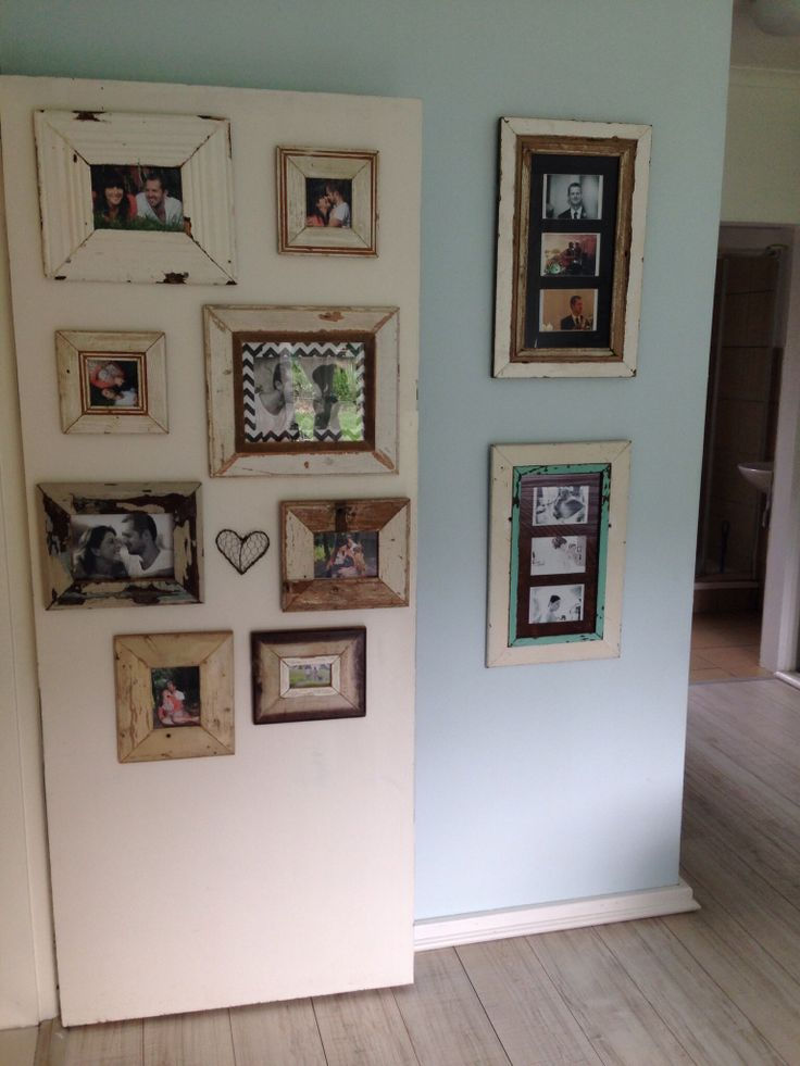 Cute pic wall even when the door is open