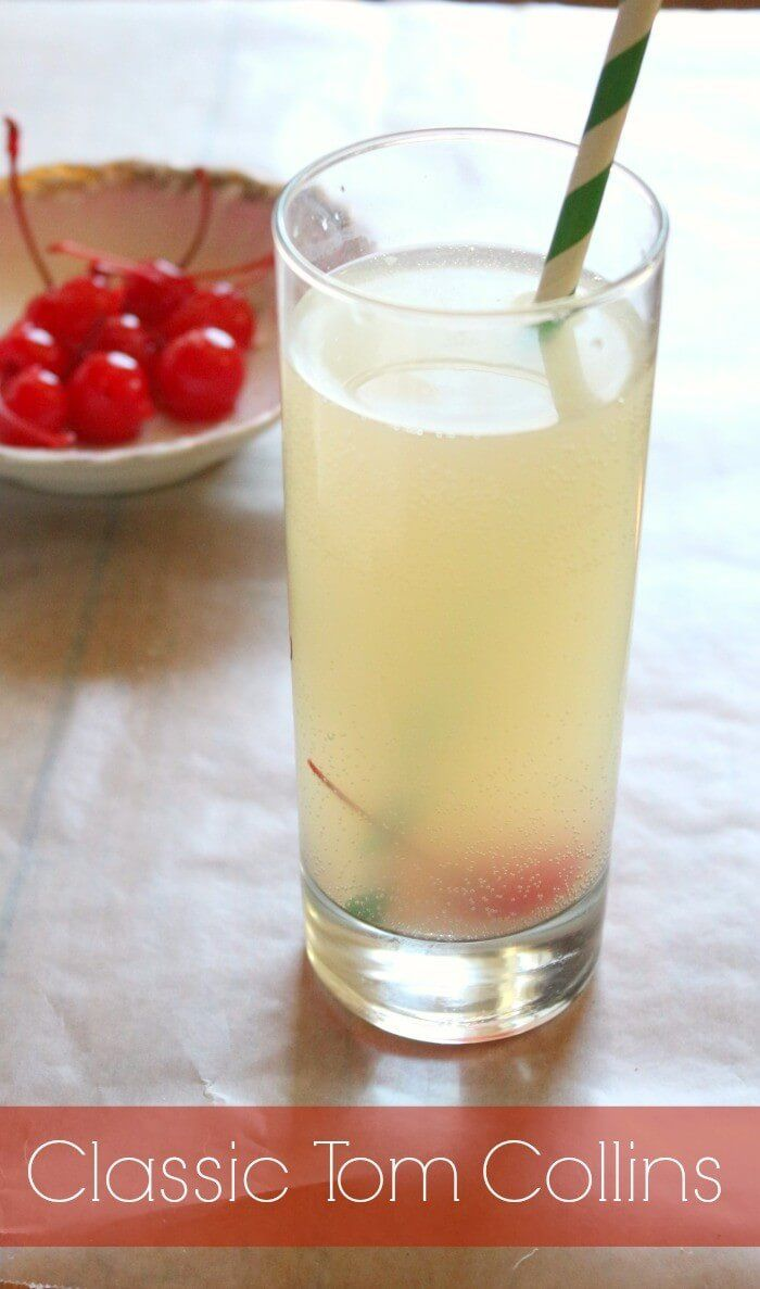 classic tom collins cocktail is tangy, sweet, and refreshing. There's a reason it's a classic! Learn to make it on Restlesschipotle.com