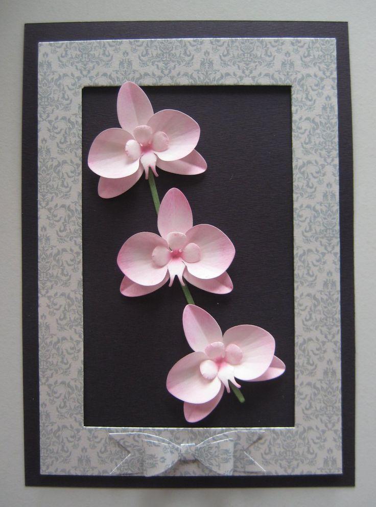 Dies used: Orchid 1 Dee's Distinctively Dies Flower Stems Dee's Distincetively Dies    Pretty Pretty Bows Cheery Lynn Dies