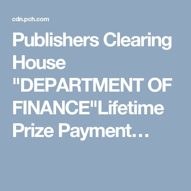 publisher clearing house products publishers clearing house quot department of finance quot lifetime 3608