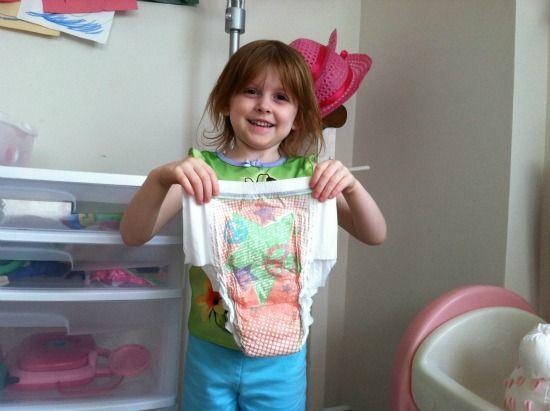 Still Diapers Older Daughter