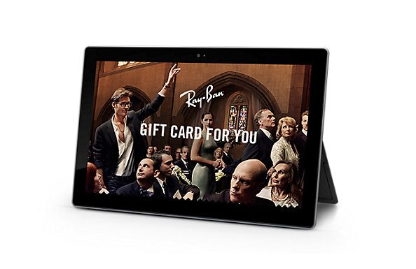 what a fabulous idea!   Ray-Ban Virtual gift card  - Virtual Gift Card | Official Ray-Ban Online Store
