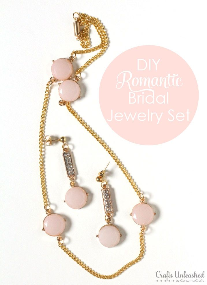 DIY Jewelry Tutorial: Make Your Own Romantic Bridal Jewelry Set  |  Crafts Unleashed