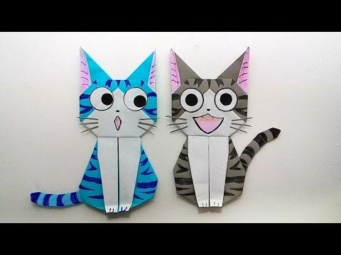 Origami cat Chi's sweet home/ พับกระดาษ แมวจี้ บ้านนี้ต้องมีเหมียว - YouTube