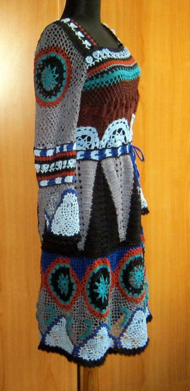Handmade lace crochet dressreplica peruvian by romayacrochet, $850.00