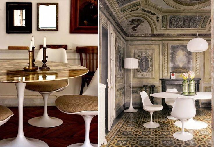 Tavolo Tulip un tocco di design contemporaneo tra i decori d epoca