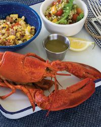 Steamed Lobster with Lemon Thyme Butter Recipe from Food & Wine