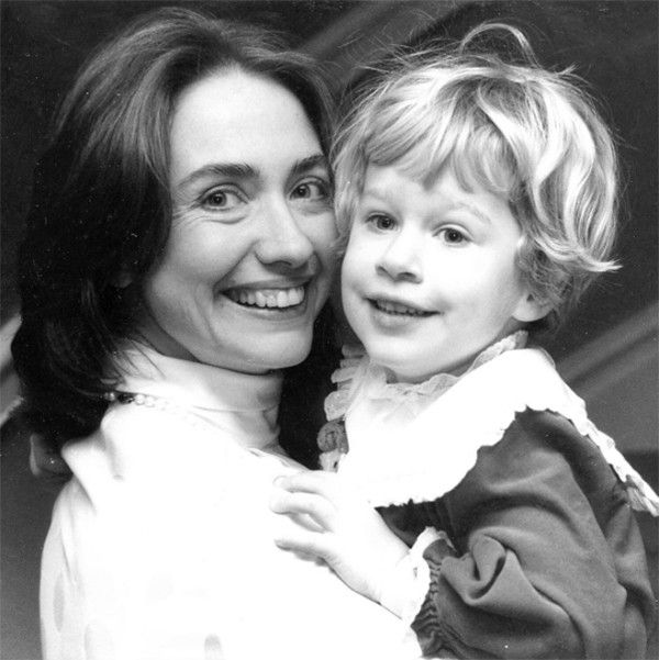Take a look at Hillary Clinton's life in photos: Hillary with baby Chelsea