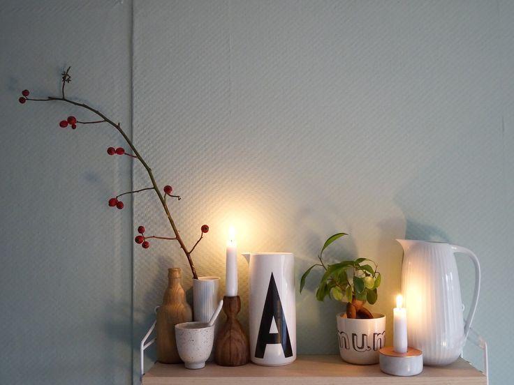 Wanddeko, Shelfie und herbstlich dekoriertes Regal - Fotoaktion #12von12 - https://mammilade.blogspot.de