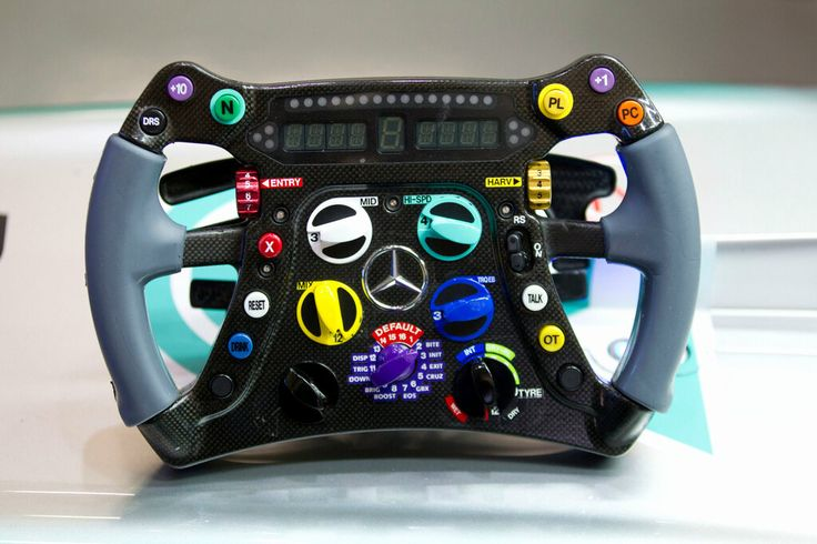 Lewis Hamilton's New #F1 Steering Wheel in the Mercedes AMG #W04