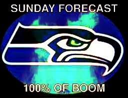 Seahawks Super Bowl Sunday Forecast 100% BOOOOOOOM!! #GoHawks #Back2Back #SuperBowlRePete