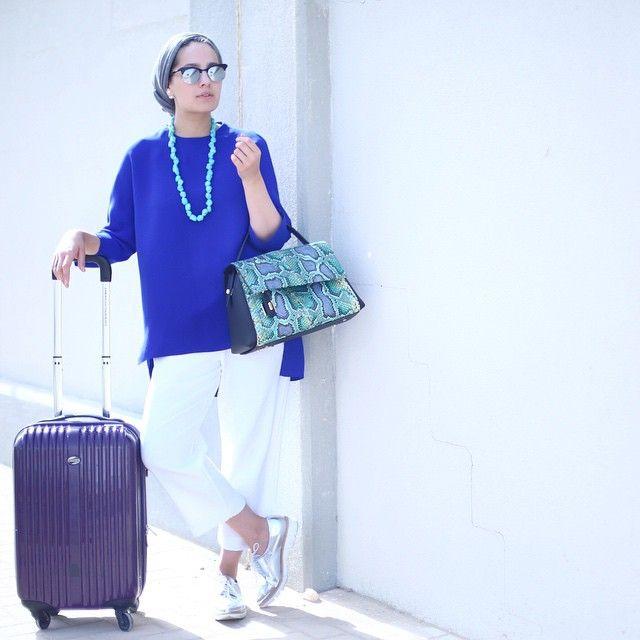 """@ascia_akf's photo: """"Back to Dubai for the day with @nativedubai (carrying @nativedubai, naturally!)"""""""