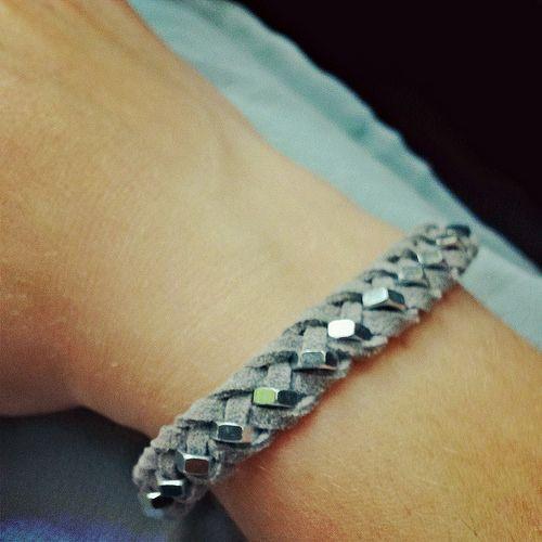 Armband aus Muttern und Velourleder01 | Goldengelchen Blog | Flickr