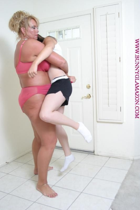 big breast wrestling