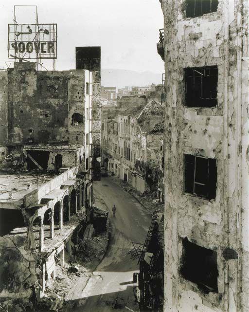Gabriele Basilico - Beirut, Gourand Street (1991)