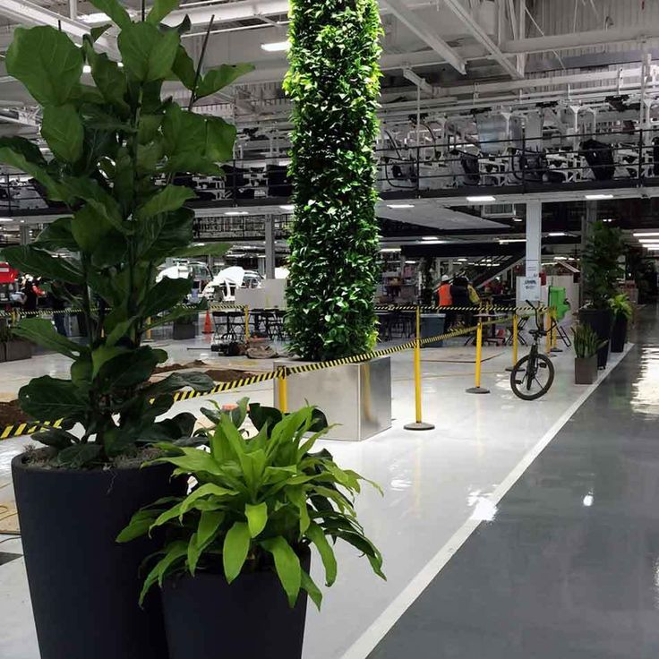 Tesla Factory Living Wall by Habitat Horticulture - View 3