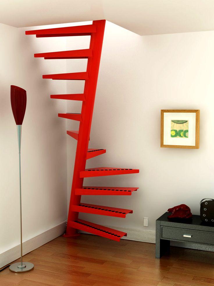 Escalera caracol de un metro cuadrado