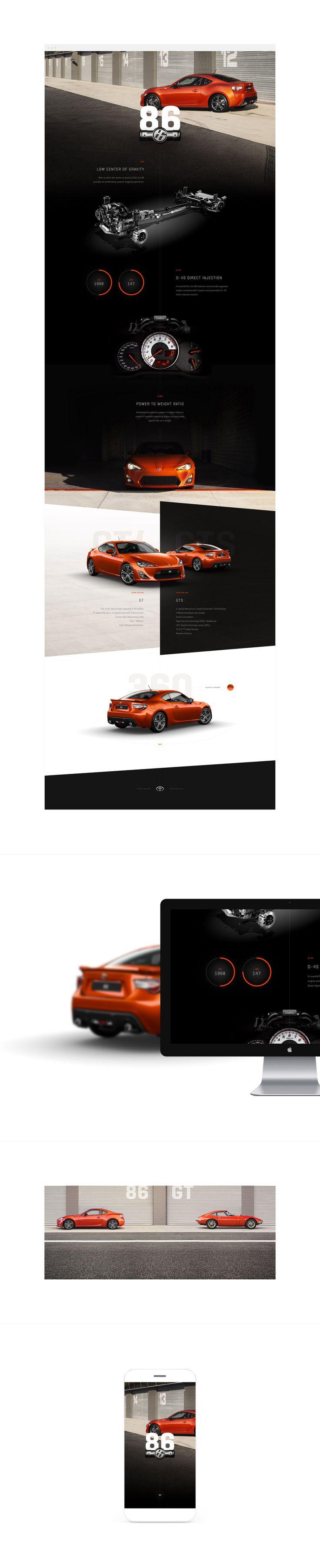 Toyota 86 Web Design, Website UX / UI - Twofold.com