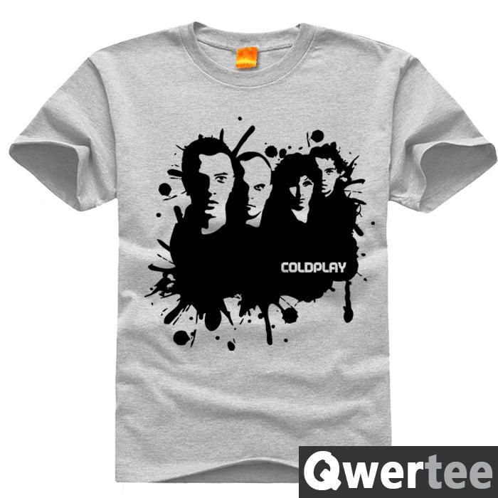 Free Shipping New Arrival Printing England Band Coldplay T Shirt Cotton Short Sleeved Top Tees-in T-Shirts from Men's Clothing & Accessories on http://totallyteeshack.blogspot.co.uk/