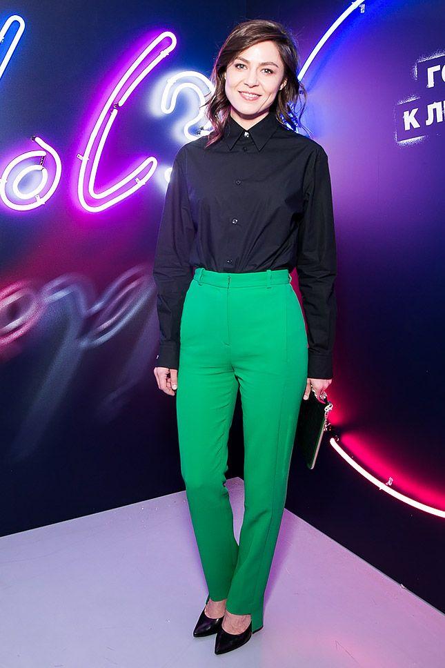 Елена Лядова в Versace на презентации в Мультимедиа Арт Музее