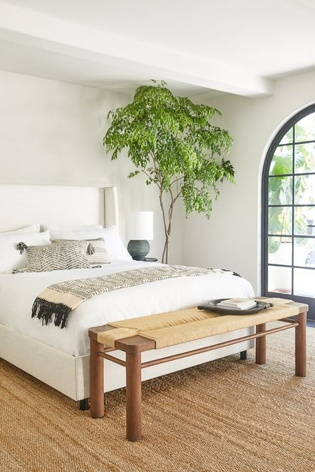 Boho Bedroom Decor, Modern Bedroom, Bedroom Wall, Bedroom Furniture, Master Bedroom, Bedroom Bookshelf, Bedroom Ideas, Bedroom Brown, Bedroom Neutral