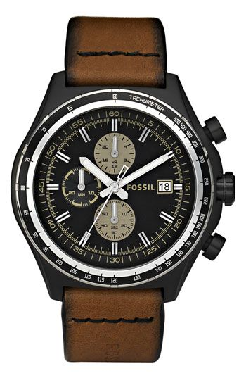 Fossil Chronograph Leather Strap Watch    (I'd like this on better on a guy, too)